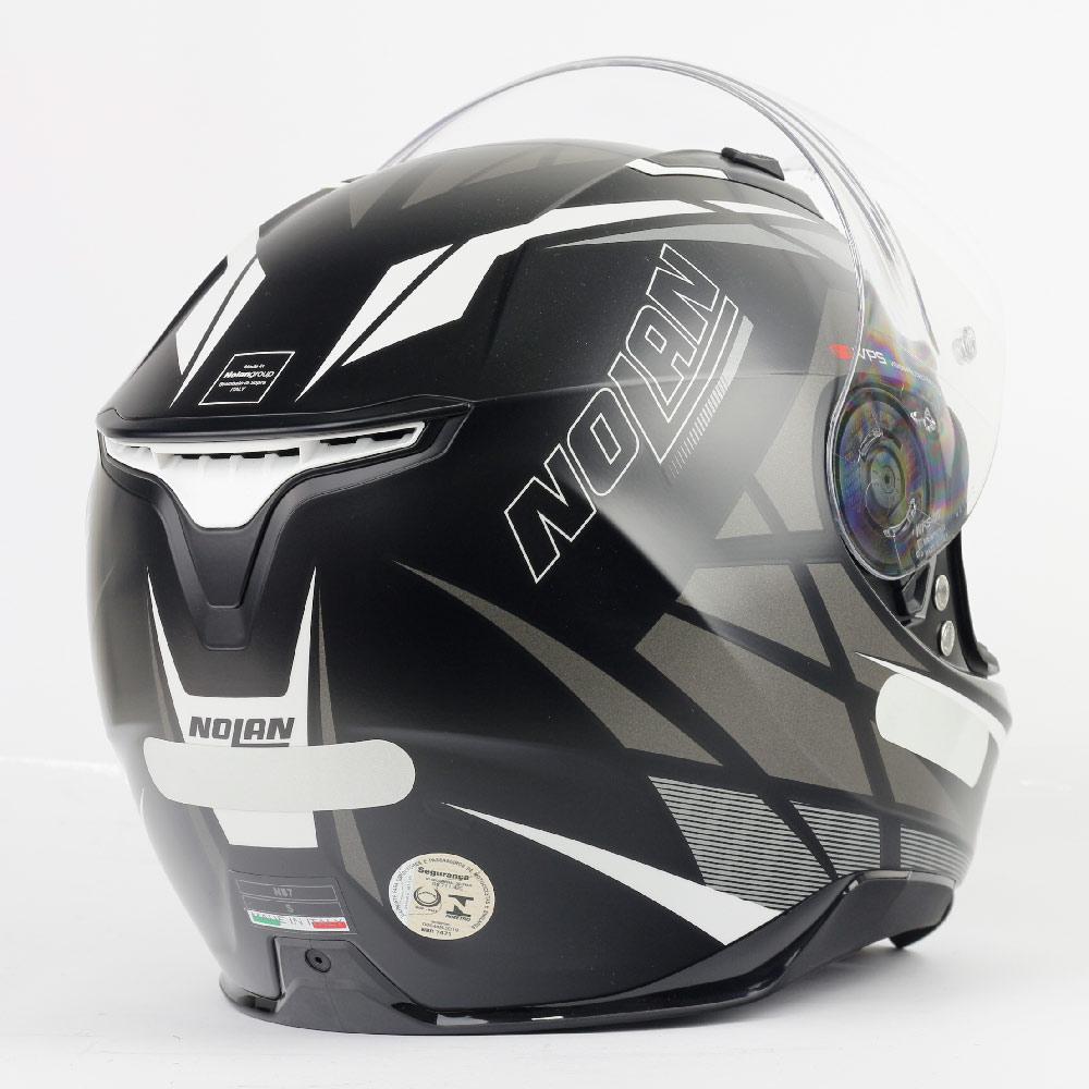 CAPACETE NOLAN N87 ORIGINALITY FLAT BLACK CINZA (87) - LANÇAMENTO  - Nova Centro Boutique Roupas para Motociclistas