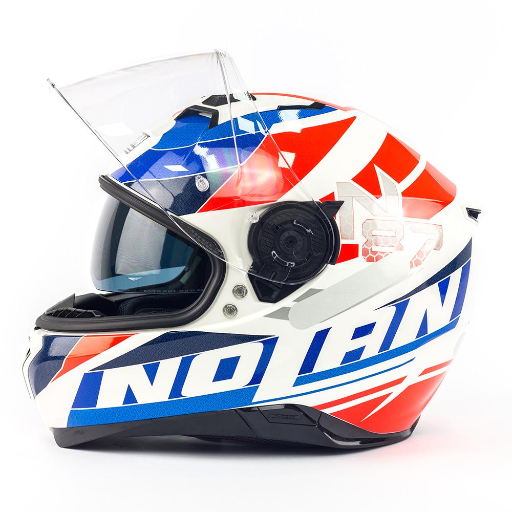 Capacete Nolan N87 Plein Air White c/ Viseira Interna
