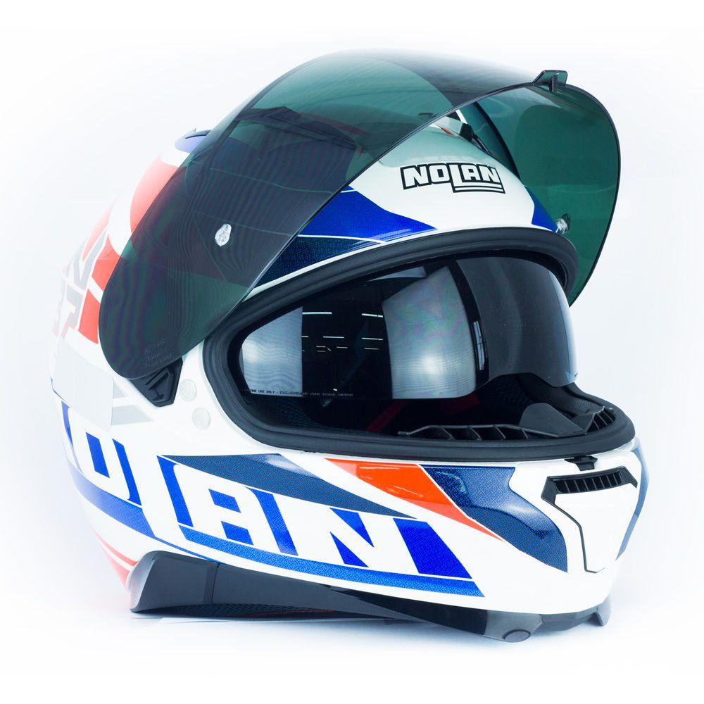 Capacete Nolan N87 Plein Air N-Com - White - c/ Viseira Interna  - Nova Centro Boutique Roupas para Motociclistas