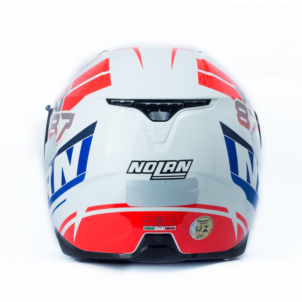 Capacete Nolan N87 Plein Air White c/ Viseira Interna  - Nova Centro Boutique Roupas para Motociclistas