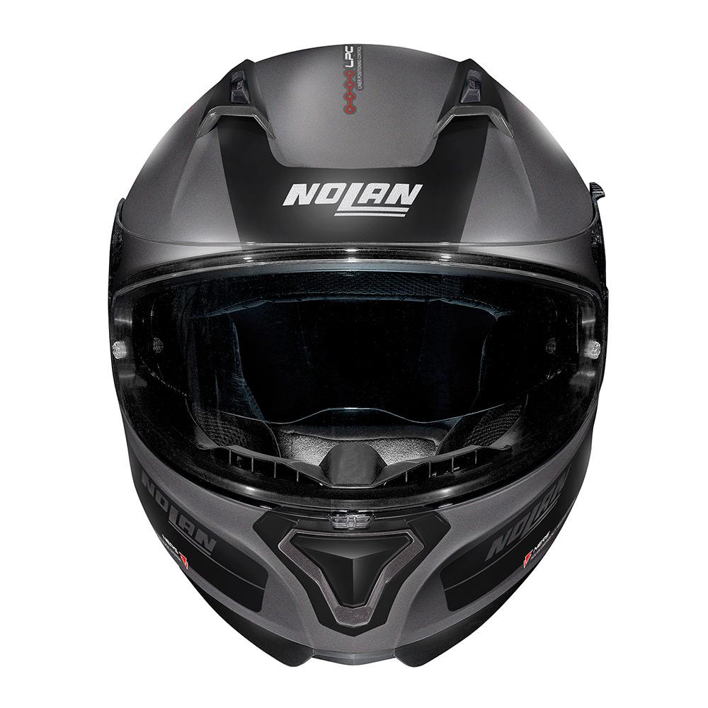 Capacete Nolan N87 Plus Distinctive - Preto/Cinza Fosco (21) - c/ Viseira Interna e Pinlock  - Nova Centro Boutique Roupas para Motociclistas