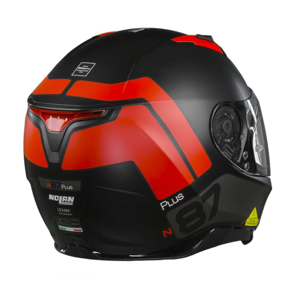 Capacete Nolan N87 Plus Distinctive - Preto/Vermelho - c/ Viseira Interna e Pinlock  - Nova Centro Boutique Roupas para Motociclistas