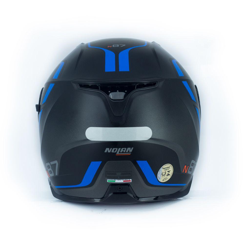 Capacete Nolan N87 Savoir Faire - Cinza e Azul - c/ Viseira Interna  - Nova Centro Boutique Roupas para Motociclistas