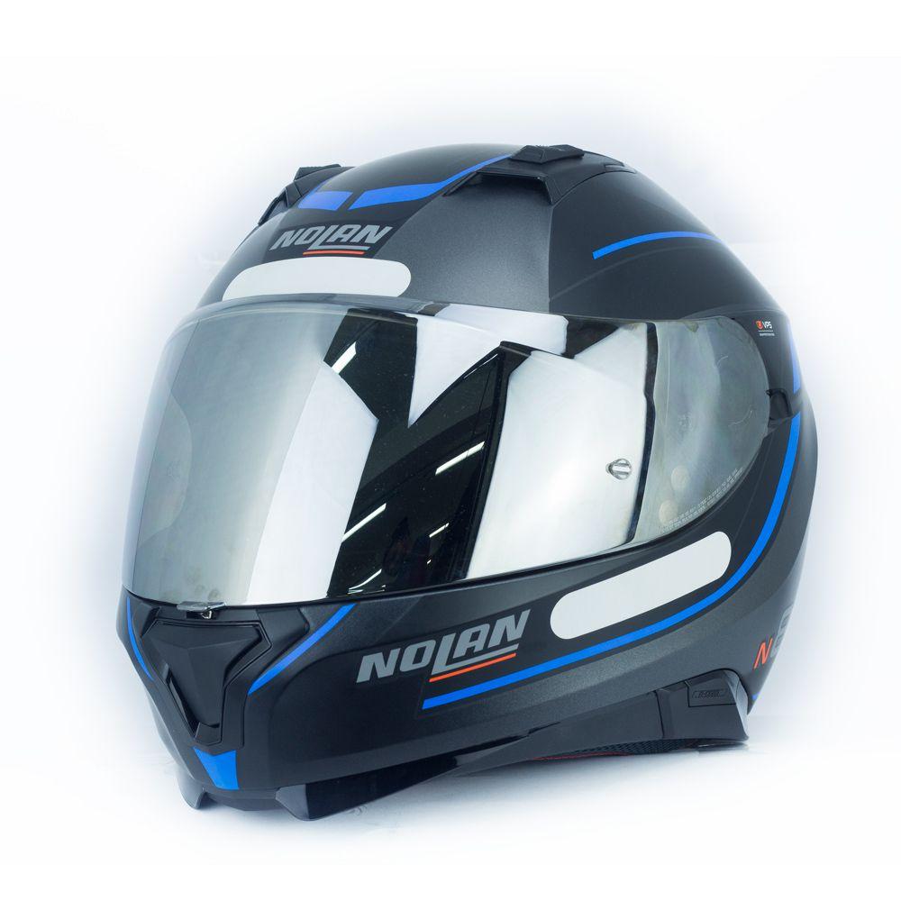 Capacete Nolan N87 Savoir Faire N-Com - Prata - c/ Viseira Interna  - Nova Centro Boutique Roupas para Motociclistas