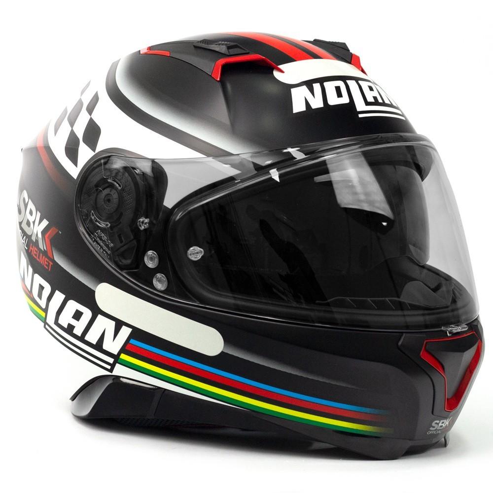 Capacete Nolan N87 Sbk (60) C/ Viseira Solar (Ganhe Pinlock)  - Nova Centro Boutique Roupas para Motociclistas