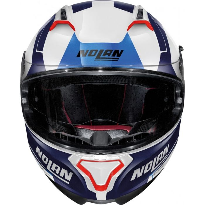 Capacete Nolan N87 Skilled - Branco/Azul (99) - c/ Viseira Interna e Pinlock  - Nova Centro Boutique Roupas para Motociclistas