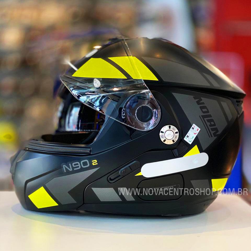 CAPACETE NOLAN N90-2 EUCLID AMARELO FOSCO (27) - LANÇAMENTO  - Nova Centro Boutique Roupas para Motociclistas