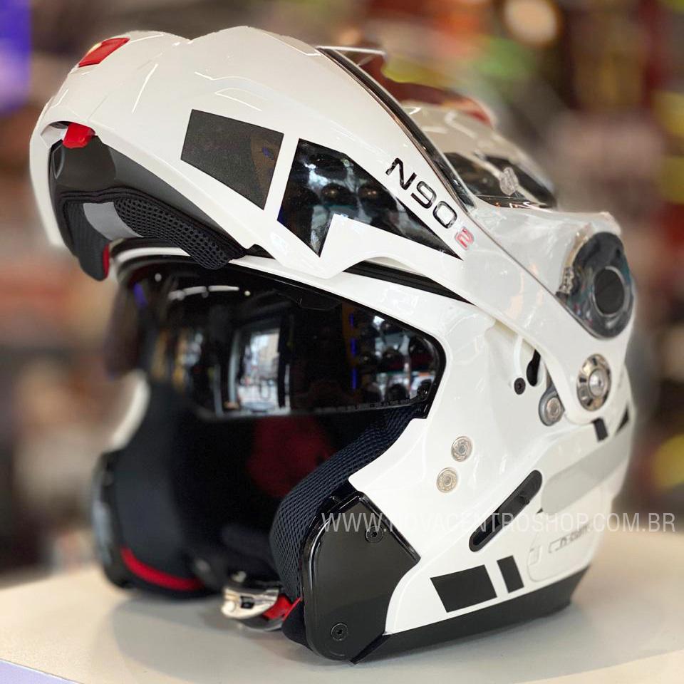 CAPACETE NOLAN N90-2 EUCLID BRANCO (28) - LANÇAMENTO  - Nova Centro Boutique Roupas para Motociclistas