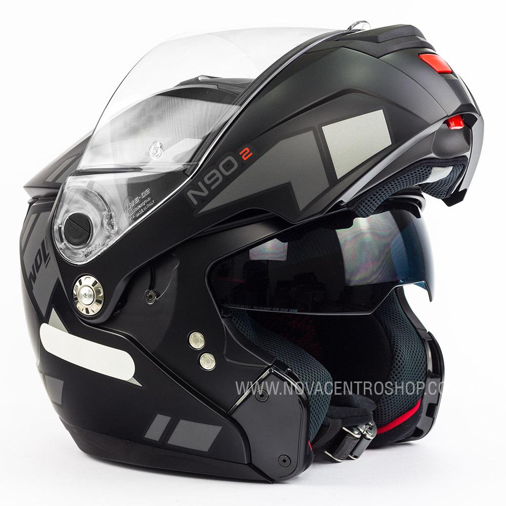 CAPACETE NOLAN N90-2 EUCLID CINZA FOSCO (26) - LANÇAMENTO  - Nova Centro Boutique Roupas para Motociclistas