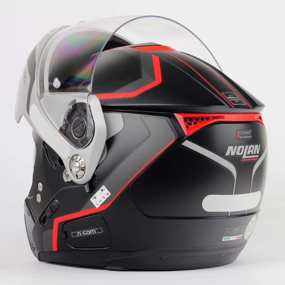 Capacete Nolan N90 Meridianus - Preto/Vermelho - Escamoteável  C/ Viseira Solar Interna  - Nova Centro Boutique Roupas para Motociclistas