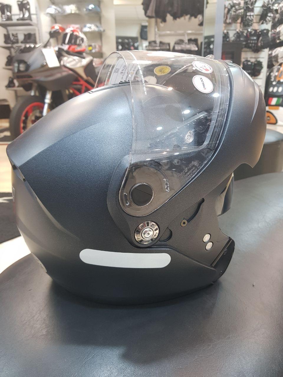 Capacete Nolan N91 Special Black Graphite - Escamoteável com Viseira interna escura   - Nova Centro Boutique Roupas para Motociclistas