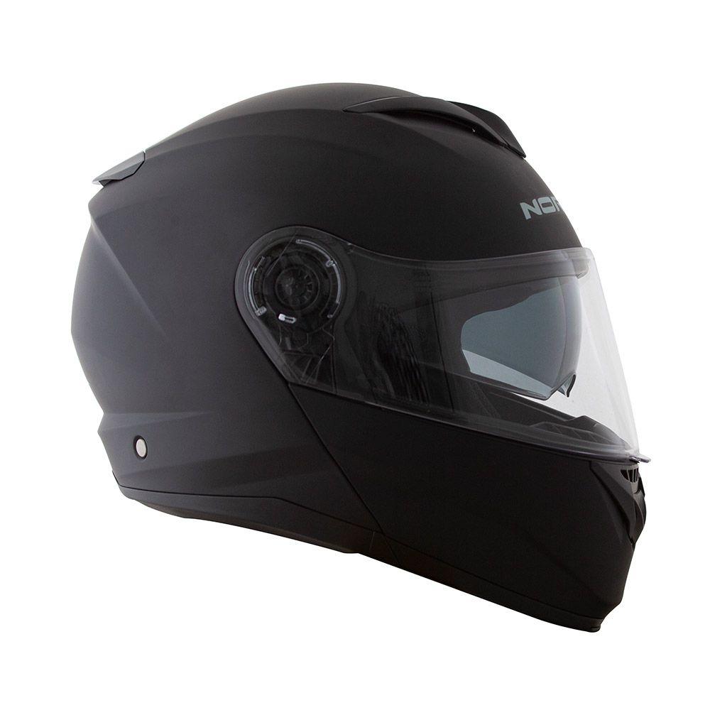 Capacete Norisk Force Escamoteável Matt Black C/ Viseira Interna  - Nova Centro Boutique Roupas para Motociclistas