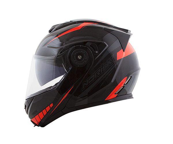 Capacete Norisk FF345 Escamoteável Route Motion Black/Red C/ viseira Interna  - Nova Centro Boutique Roupas para Motociclistas