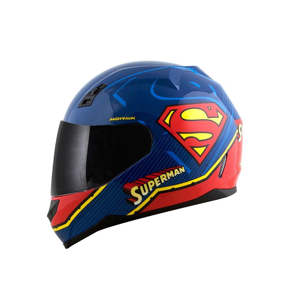 Capacete NoRisk FF391 STUNT - Superman Symbol