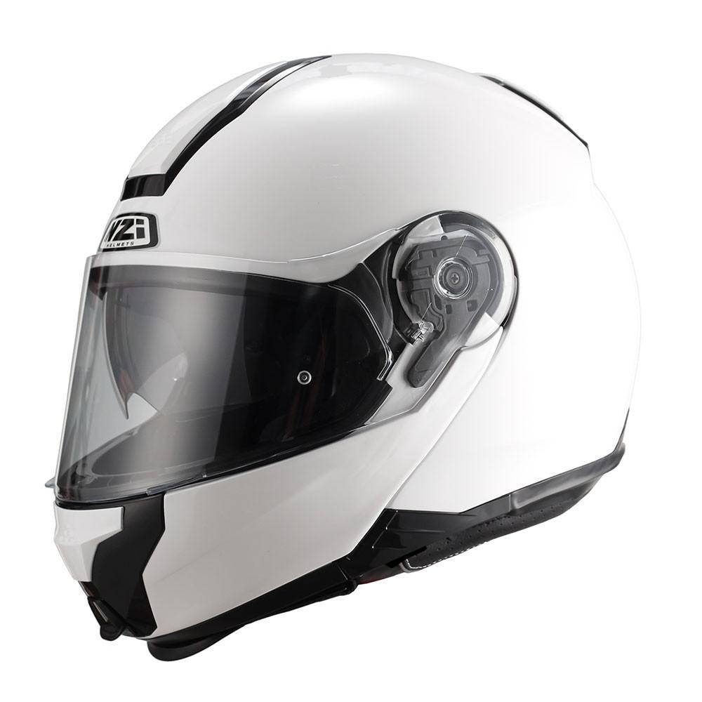 Capacete NZI Combi 2 Duo (C/ VISEIRA SOLAR) Branco - Escamoteável  - Nova Centro Boutique Roupas para Motociclistas