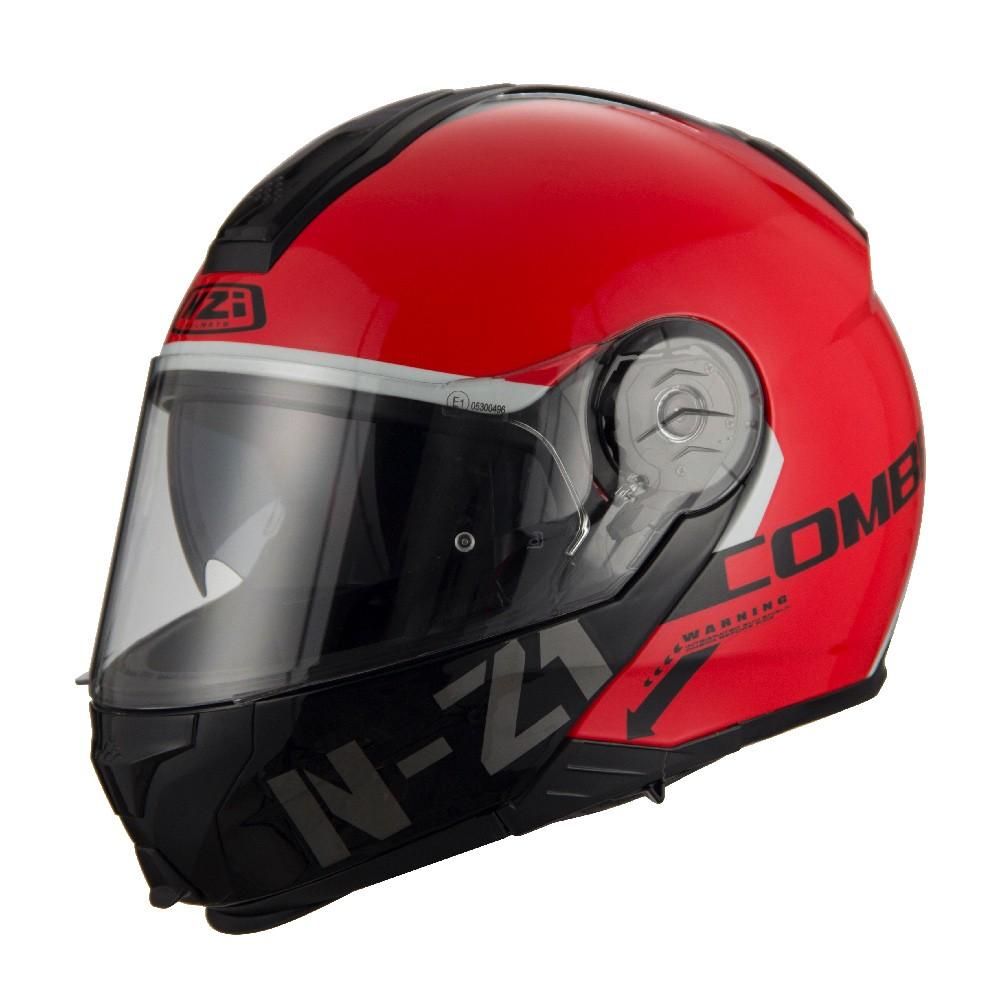 Capacete NZI Combi 2 Flydeck (C/ VISEIRA SOLAR) Vermelho - Escamoteável - LANÇAMENTO 2021  - Nova Centro Boutique Roupas para Motociclistas