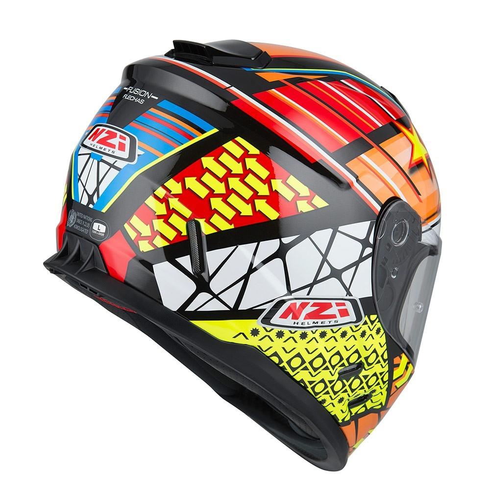 Capacete NZI Fusion Flecha Preto/Branco/Amarelo  - Nova Centro Boutique Roupas para Motociclistas