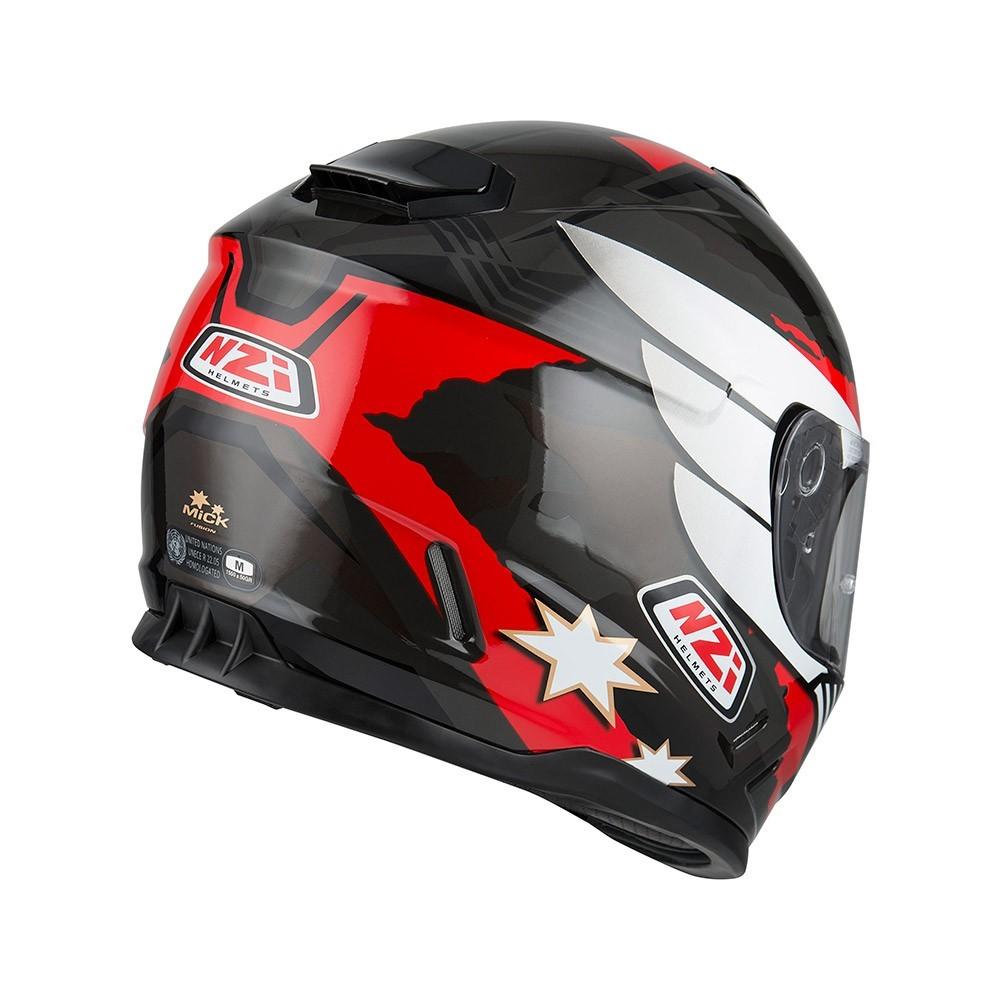 Capacete NZI Fusion Mick Antracite/Preto/Vermelho  - Nova Centro Boutique Roupas para Motociclistas