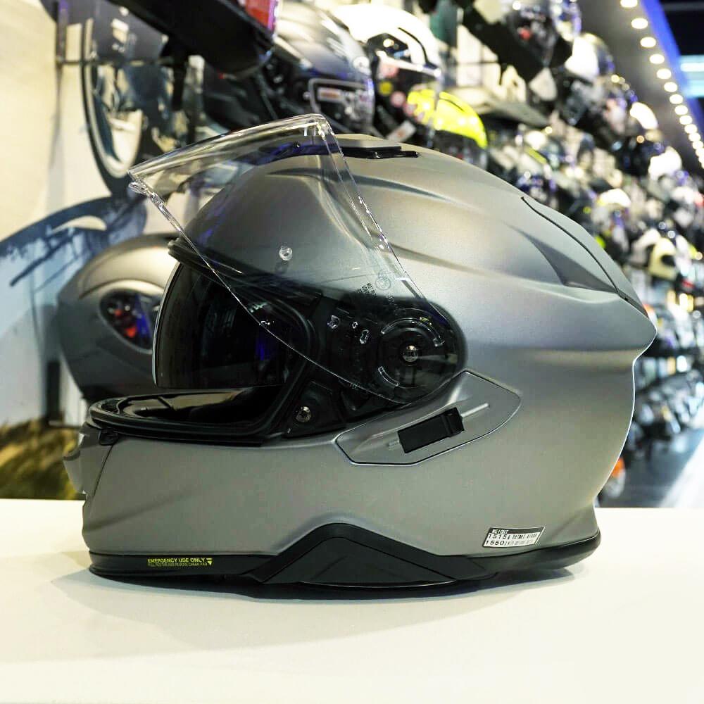 CAPACETE SHOEI GT-AIR II - Cinza Fosco - Com Viseira Solar (GT-Air 2)