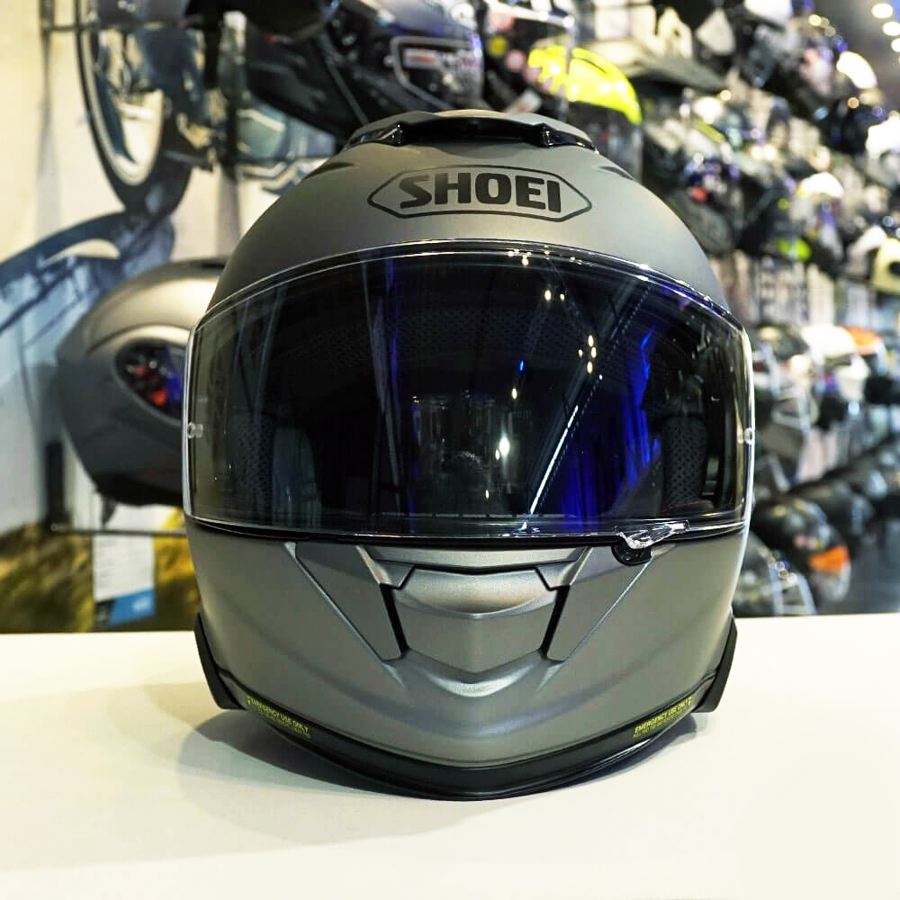 CAPACETE SHOEI GT-AIR II - Cinza Fosco - Com Viseira Solar (GT-Air 2)  - Nova Centro Boutique Roupas para Motociclistas