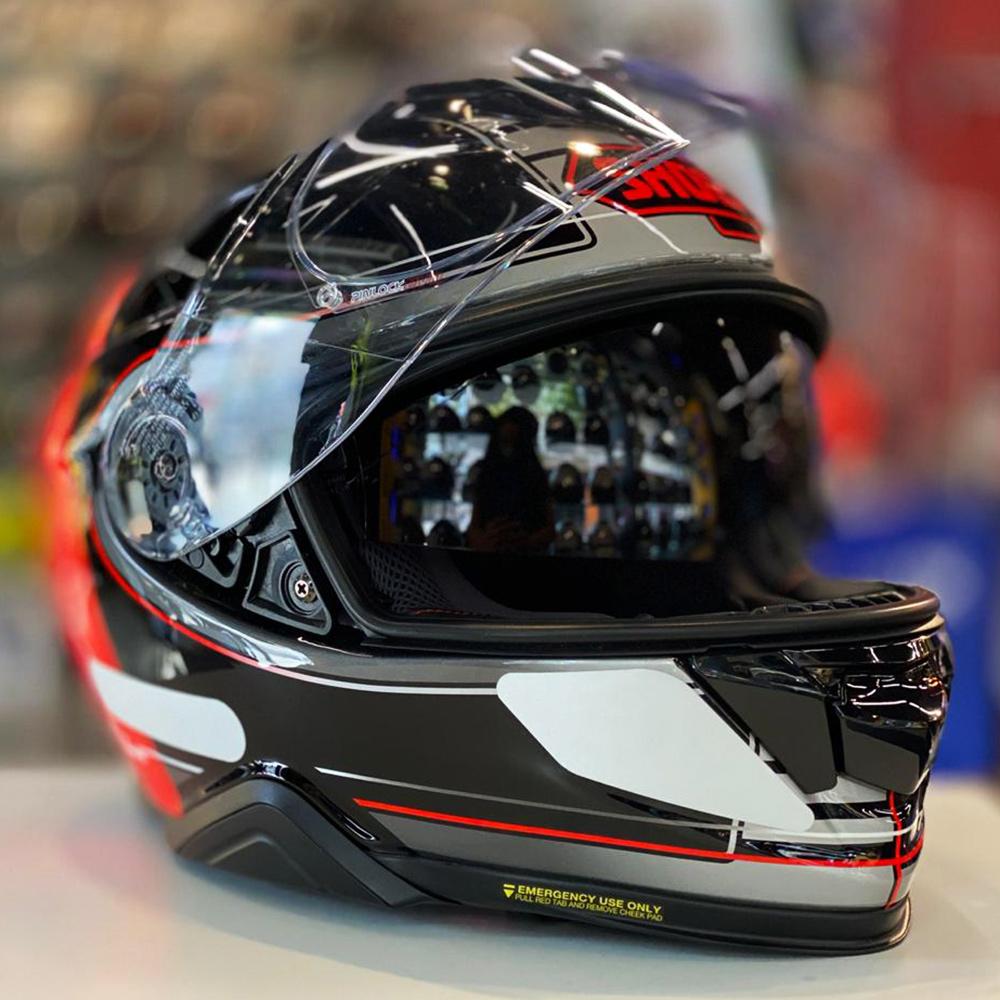 CAPACETE SHOEI GT-AIR II Crossbar TC-1 - Com Anti-Embaçante (GT-Air 2)  - Nova Centro Boutique Roupas para Motociclistas