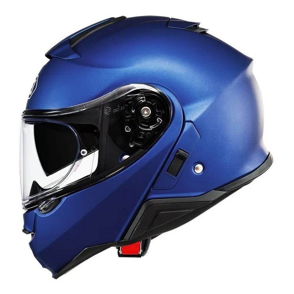 Capacete Shoei Neotec 2 Azul Fosco Escamoteável  - Nova Centro Boutique Roupas para Motociclistas