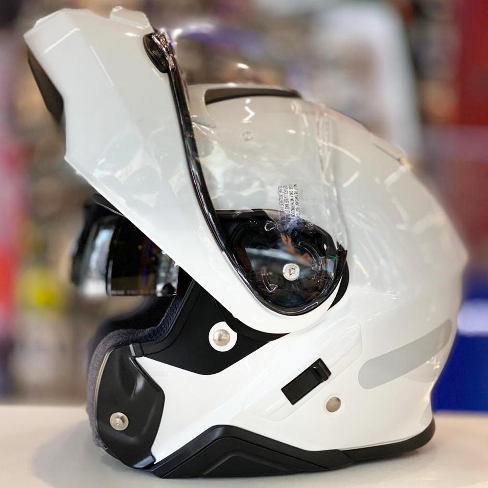 Capacete Shoei Neotec 2 Branco Brilho Escamoteável