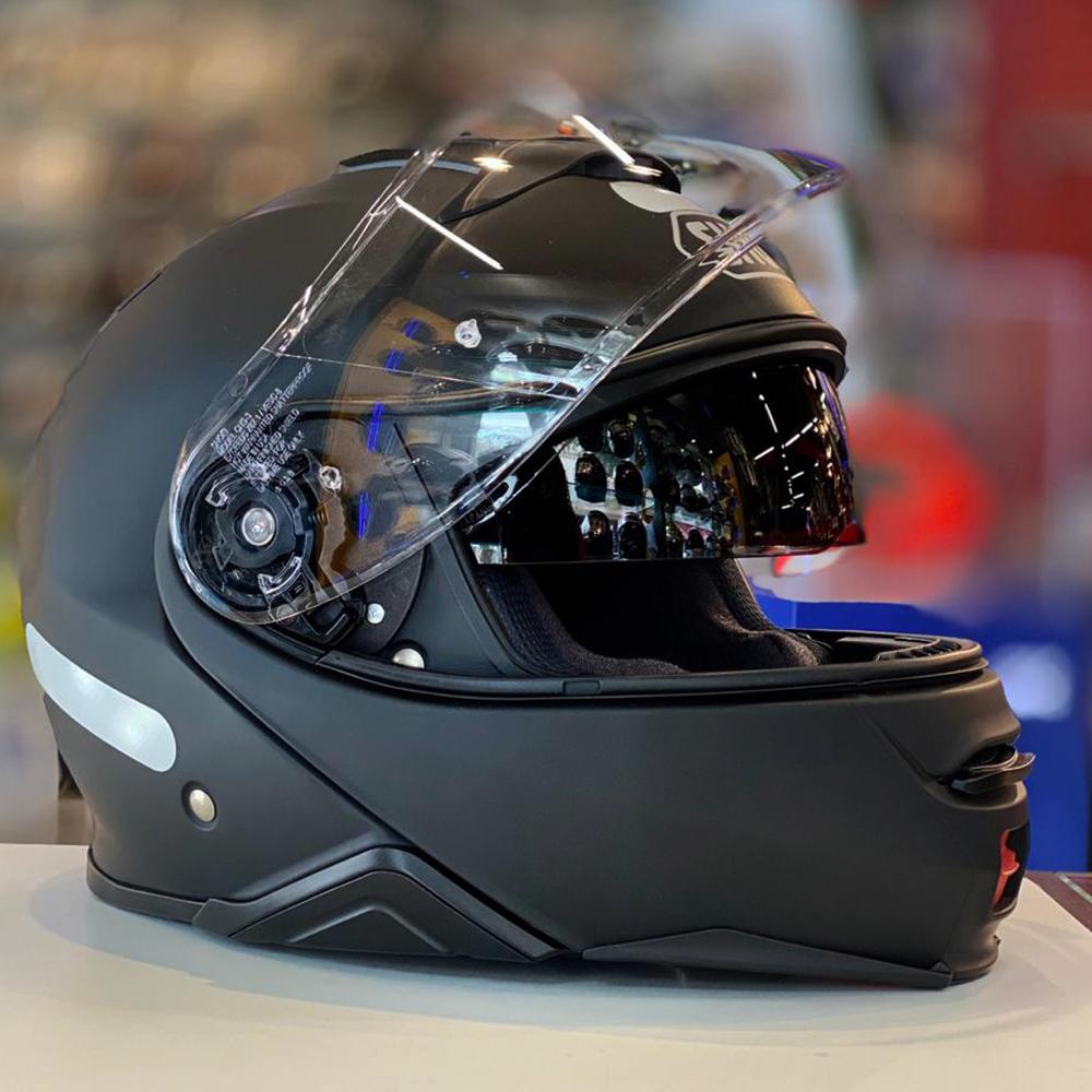 Capacete Shoei Neotec 2 Preto Fosco Escamoteável  - Nova Centro Boutique Roupas para Motociclistas