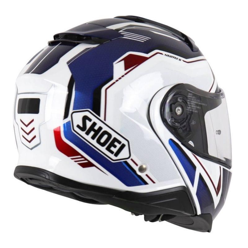 Capacete Shoei Neotec 2 Respect TC-10 Branco/Azul Escamoteável - LANÇAMENTO 2021  - Nova Centro Boutique Roupas para Motociclistas