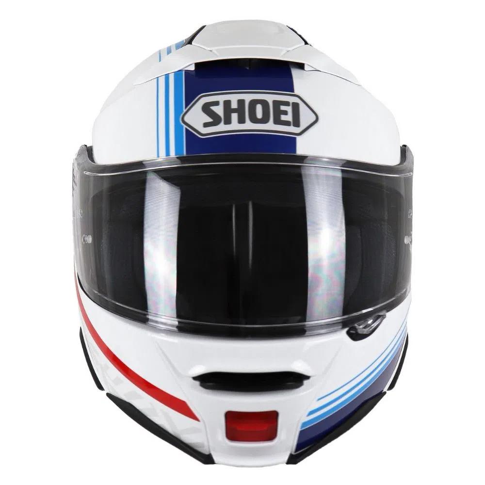 Capacete Shoei Neotec 2 - Separator - TC-10 - Branco/Azul - Escamoteável  - Nova Centro Boutique Roupas para Motociclistas