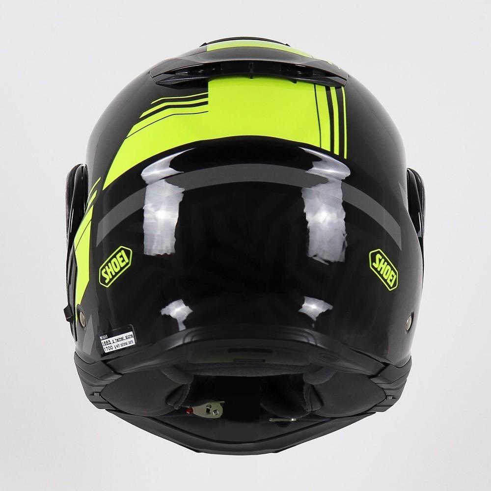 Capacete Shoei Neotec 2 - Separator - TC-3 - Preto/Amarelo - Escamoteável  - Nova Centro Boutique Roupas para Motociclistas