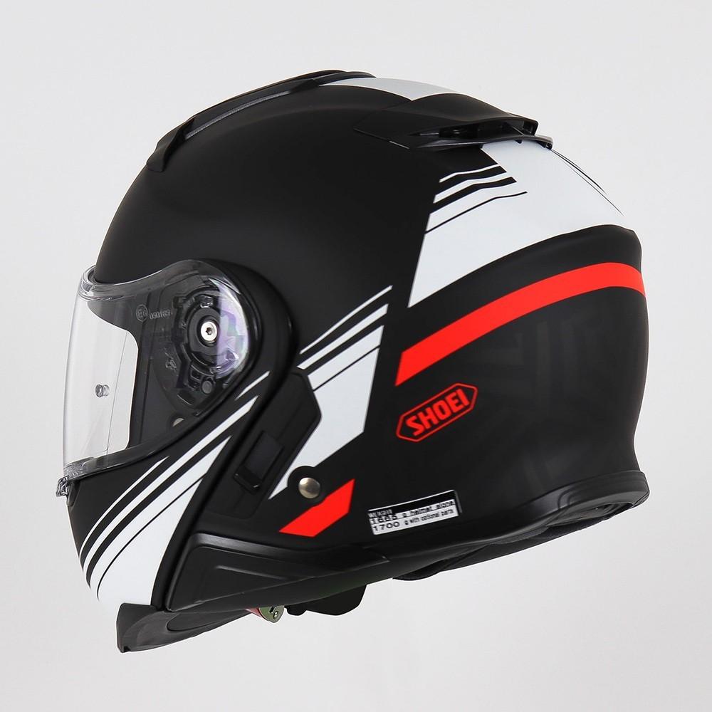 Capacete Shoei Neotec 2 - Separator - TC-5 - Preto/Branco/Vermelho - Escamoteável  - Nova Centro Boutique Roupas para Motociclistas