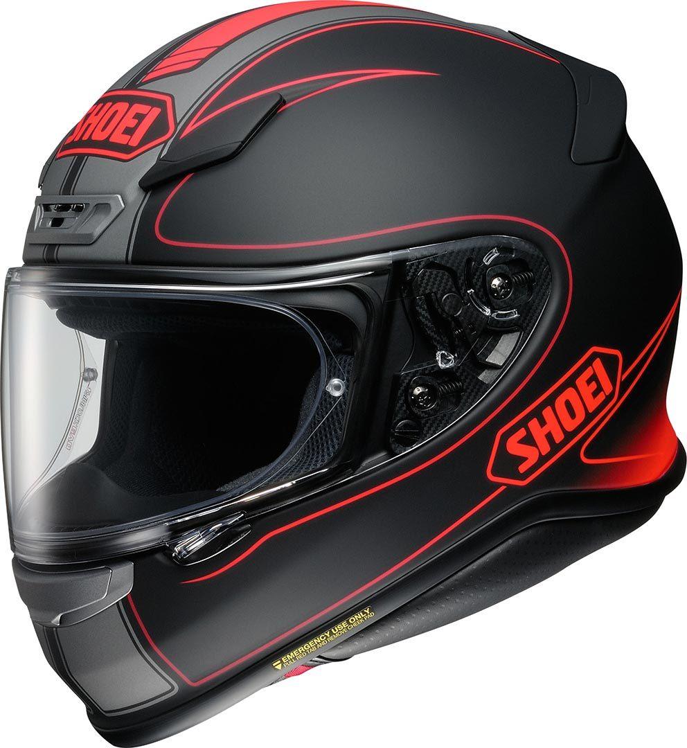 Capacete Shoei NXR Flagger TC-1 Preto/Vermelho (SÓ 62)  - Nova Centro Boutique Roupas para Motociclistas