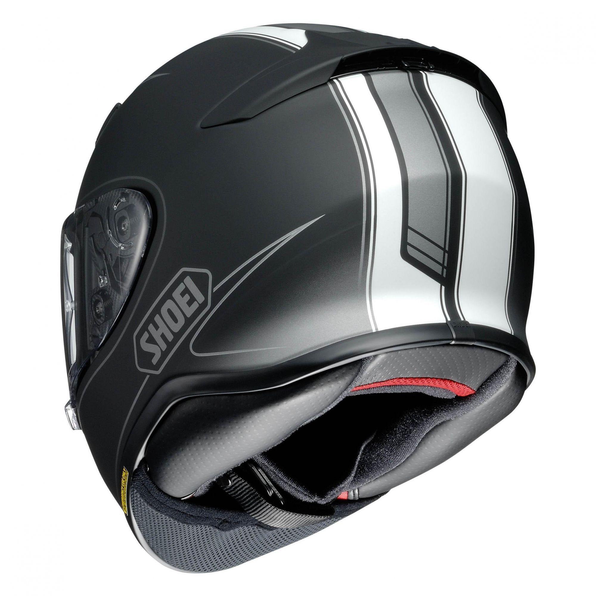 Capacete Shoei NXR Flagger TC-5 Preto/Branco  - Nova Centro Boutique Roupas para Motociclistas