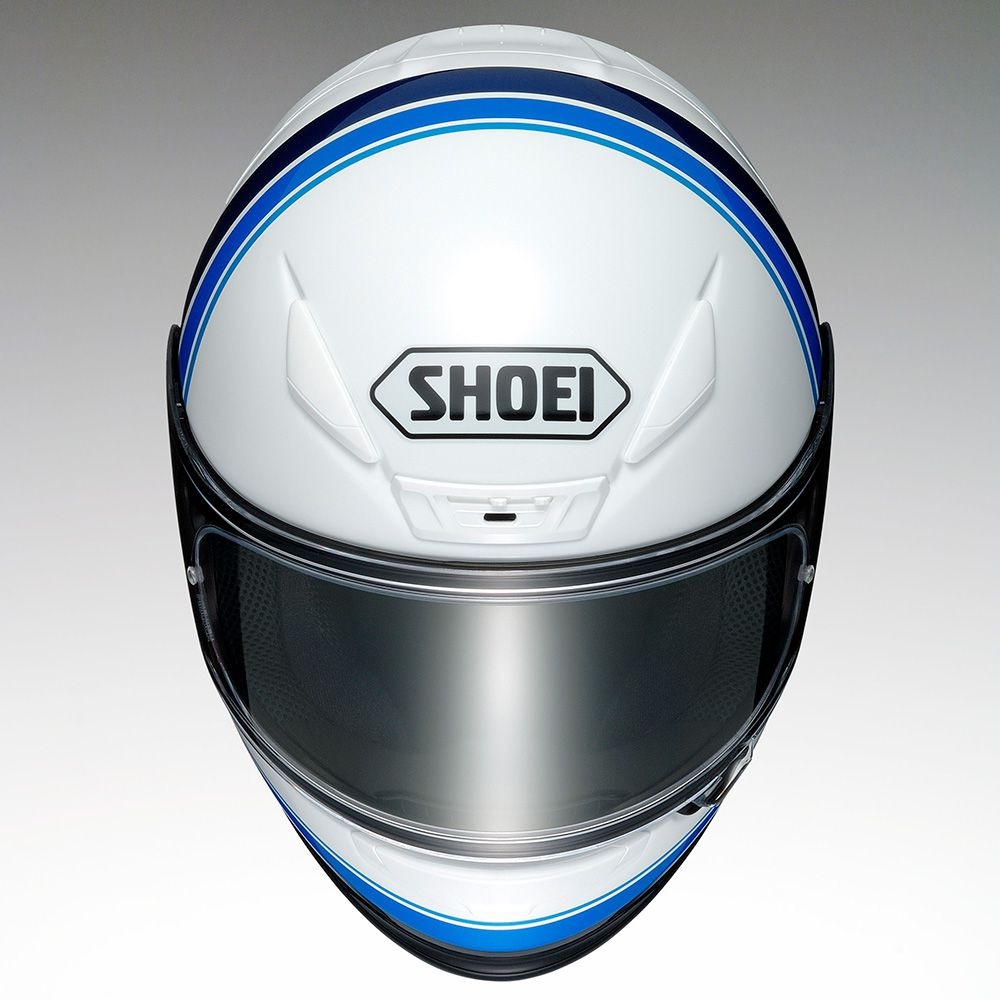 Capacete Shoei NXR Philosopher TC-2 Preto/Branco/Azul - NOVO!  - Nova Centro Boutique Roupas para Motociclistas