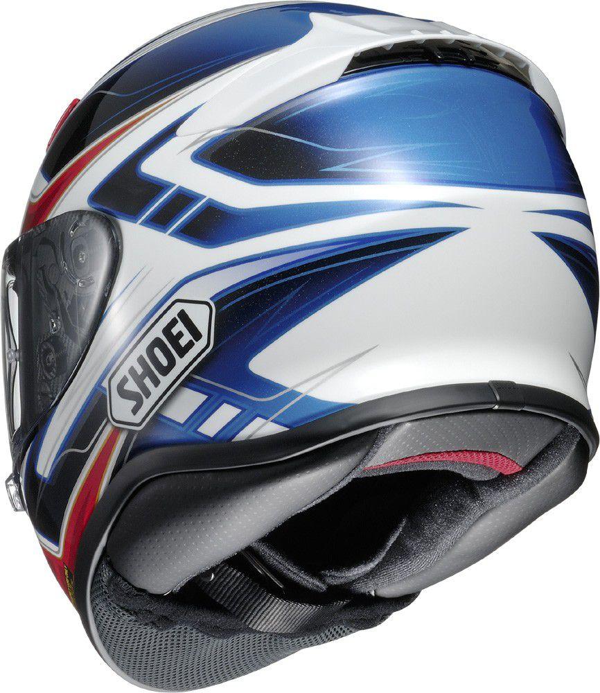 Capacete Shoei NXR Valkirie TC-1 Vermelho/Preto/Branco/Azul  - Nova Centro Boutique Roupas para Motociclistas