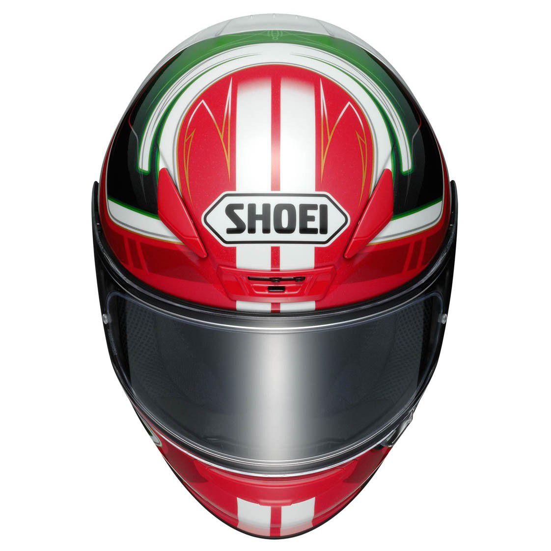 Capacete Shoei NXR Valkirie TC-4 Vermelho/Preto/Branco/Verde  - Nova Centro Boutique Roupas para Motociclistas