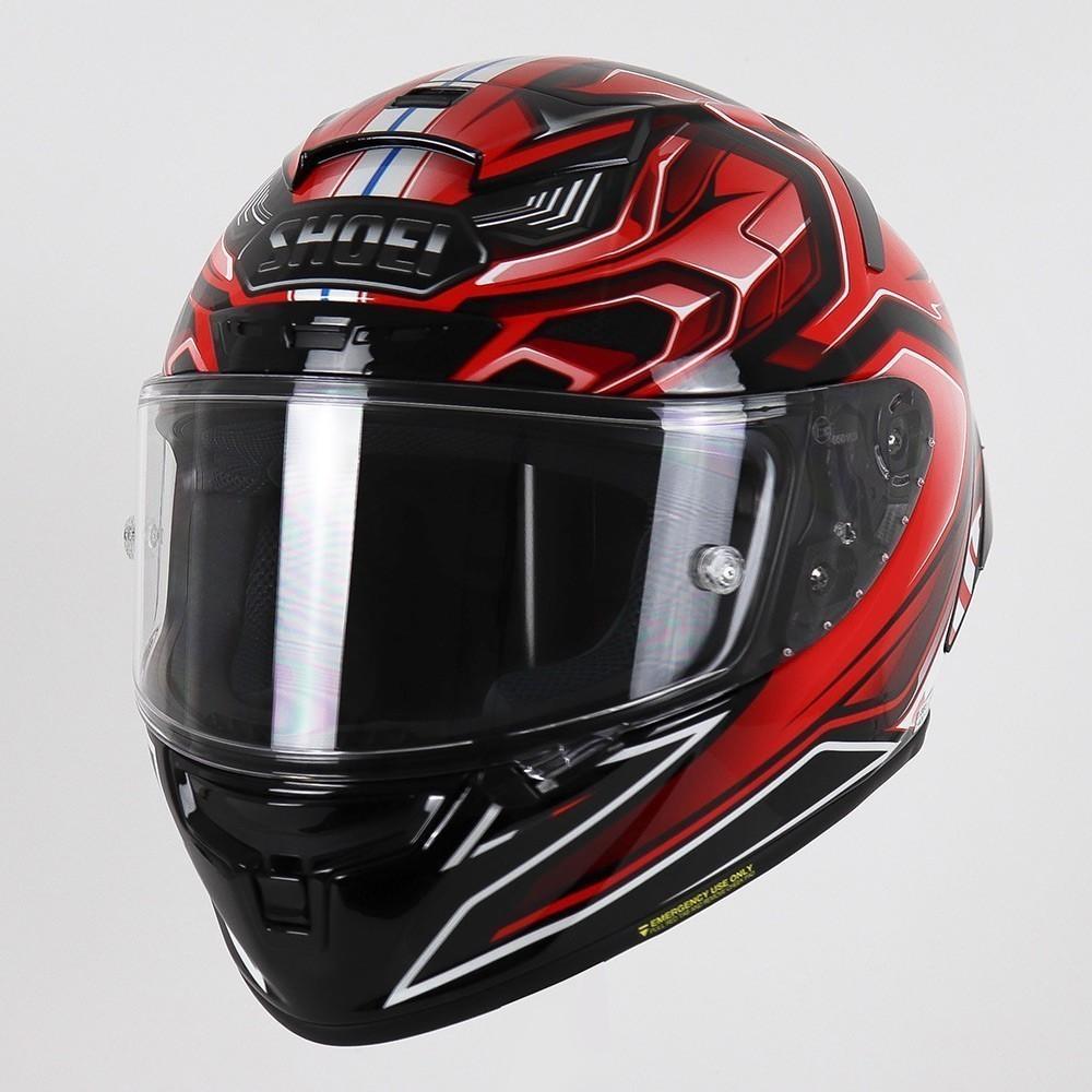 CAPACETE SHOEI X-SPIRIT 3 (X-FOURTEEN) - AERODYNE TC-1 - VERMELHO/PRETO/BRANCO  - Nova Centro Boutique Roupas para Motociclistas