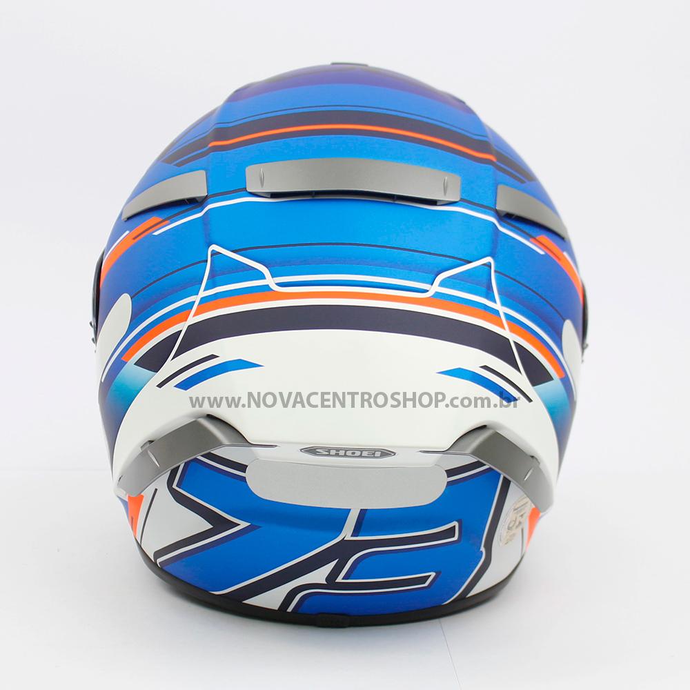 CAPACETE SHOEI X-SPIRIT 3 (X-FOURTEEN) - ALEX MARQUEZ AM73 AZUL  - Nova Centro Boutique Roupas para Motociclistas