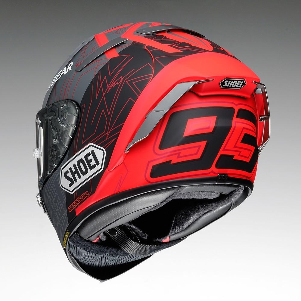 CAPACETE SHOEI X-SPIRIT 3 (X-FOURTEEN) - MARC MARQUEZ CONCEPT 2  - Nova Centro Boutique Roupas para Motociclistas