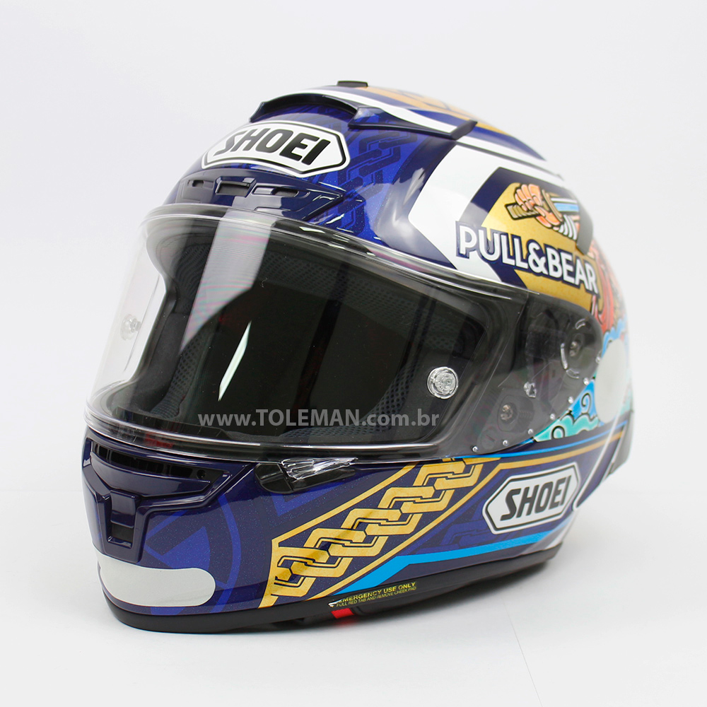 CAPACETE SHOEI X-SPIRIT 3 (X-FOURTEEN) - MARC MARQUEZ MOTEGI 3 TC-1 RÉPLICA  - Nova Centro Boutique Roupas para Motociclistas