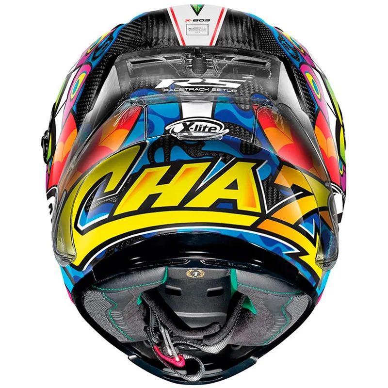 Capacete X-lite X-803 RS Ultra Carbon Chaz Davies - Ganhe Touca Balaclava  - Nova Centro Boutique Roupas para Motociclistas