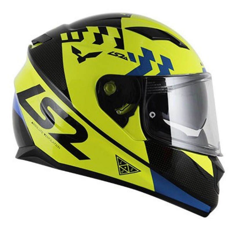 Capacete LS2 FF320 Podium Amarelo  - Nova Centro Boutique Roupas para Motociclistas