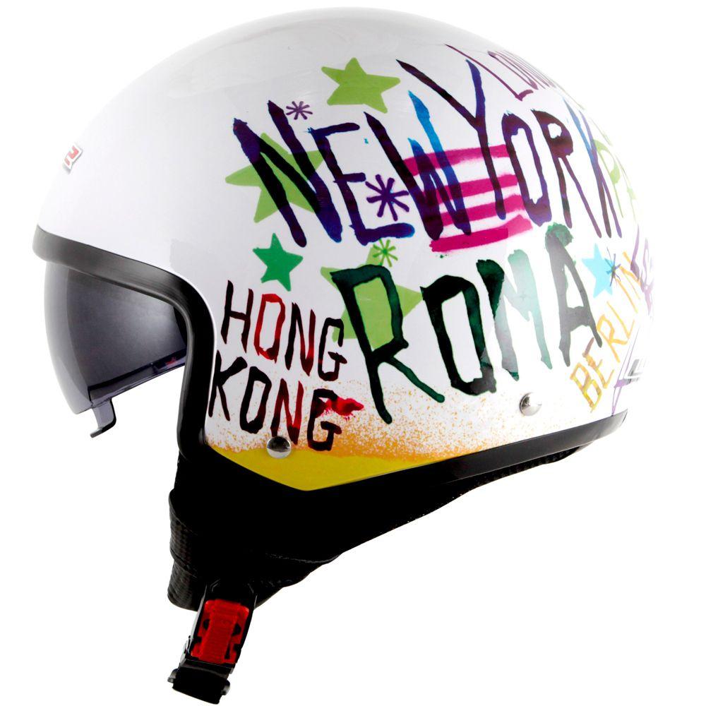 Capacete LS2 OF561 Wave City - White  - Nova Centro Boutique Roupas para Motociclistas