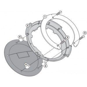 Flange Givi P/ fixação de bolsas tanklock GIVI BF04 KAWASAKI (DVS MODELOS)