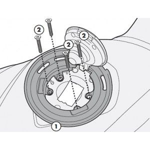 Flange Givi P/ fixação de bolsas tanklock GIVI BF22 BMW (DVS MODELOS)  - Nova Centro Boutique Roupas para Motociclistas