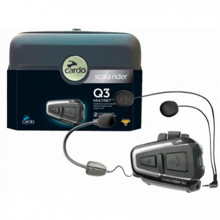 Intercomunicador Cardo Q3 Multiset (2 pç)  - Nova Centro Boutique Roupas para Motociclistas