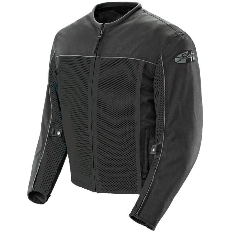0 Jaqueta Joe Rocket Velocity Preta - Ventilada e Impermeável  - Nova Centro Boutique Roupas para Motociclistas