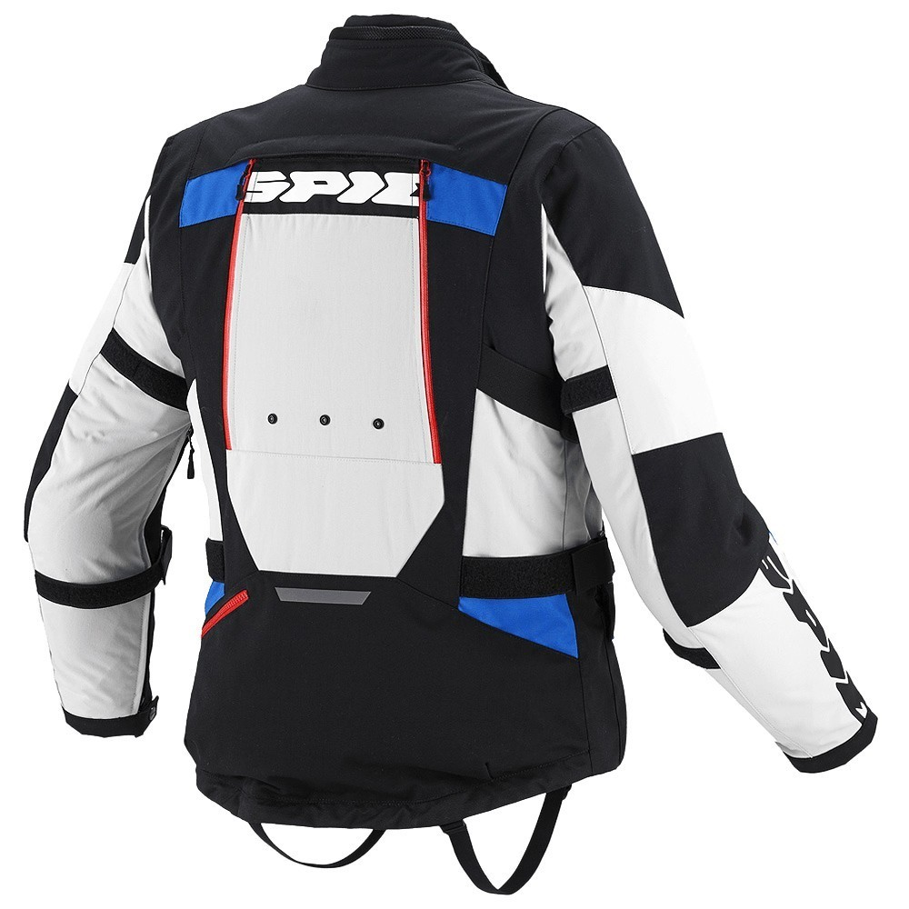 Jaqueta Spidi 4 Season Black/Blue/Grey H2Out e Ventilada - Big Trail Parka - SUPEROFERTA!  - Nova Centro Boutique Roupas para Motociclistas