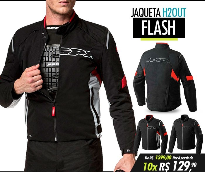 Jaqueta Spidi Flash H2Out Black/Red - SUPEROFERTA!  - Nova Centro Boutique Roupas para Motociclistas